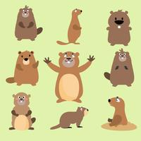 Vector de Gopher plana gratis
