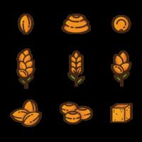 Sorghum Icons Vector