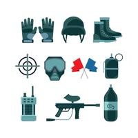 free airsoft flat icon vector