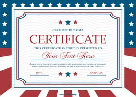Patriotic Style Certificate Template