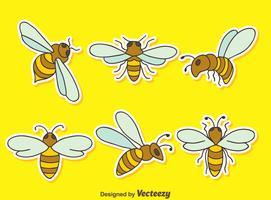 Große Hornets auf gelbem Vektor