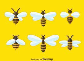 Flat Hornets Colection Vector