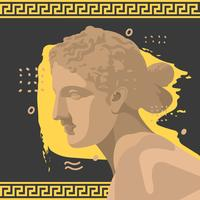 Aphrodite-Weinlese-Vektor-Illustration
