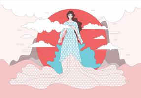 Beautiful Aphrodite Illustration Vector