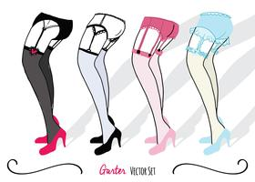 Garter Set Illustration Vector