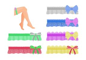 Collection Of Woman Garter Vector