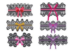 Black Lace Garter Vector Collection