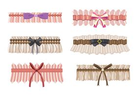 Beautiful Garter Collection Vectors