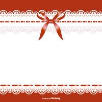 Beautiful Garter of Bride Template vector