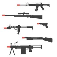 Black Airsoft Gun Vector