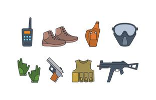 Airsoft equipment icon pack