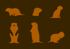 vector de silueta gopher
