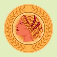 Aphrodite Ancient Greek Mascot Vector