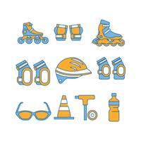 Free Rollerblade Equipment Icon Vector