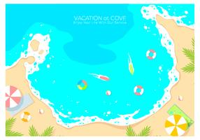 Vacation At Cove Background Free Vector