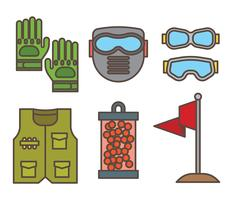 Iconos del vector de Airsoft