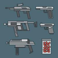 Airsoft Vector Icons