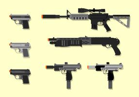 Heavy Airsoft Gun Gratis Vector