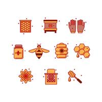 Free Beekeeping Icon Vector