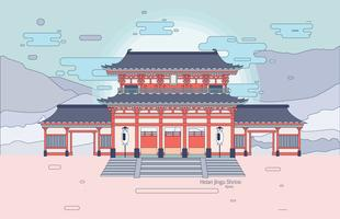 Daigokuden in Heian Jingu Shrine Vector