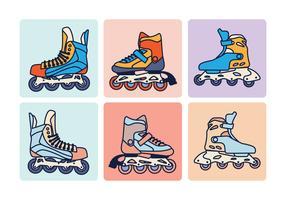 vetor de patins