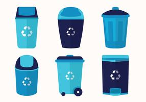 Waste Basket Vector Pack