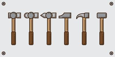 Sledge hammer line pack vector