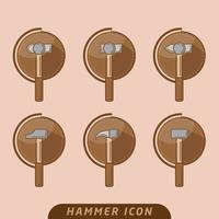 Sledge hammer icon vector pack