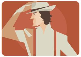 Man With Hat Vector