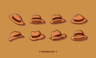vetor de chapéu panama grátis