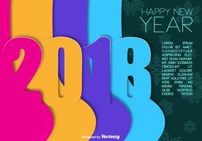 2018 frohes neues Jahr Vektor farbigen Hintergrund