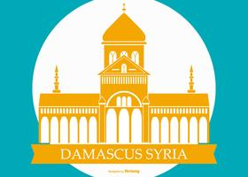 Famous Damascus Syria Building  vector