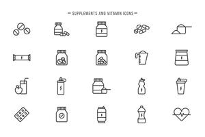 Free Supplements and Vitamins Vectors