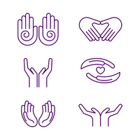 Gratis Healing Hands Icon Vector