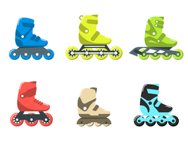 funky rollerblade vector