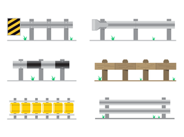 Flat Guardrail Vector