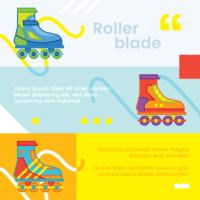 vetor de bandeira de patins