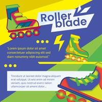 Rollerblade Flyer Vector