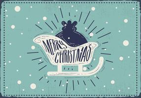 Priorità bassa di vettore della siluetta di Natale dell'annata gratis