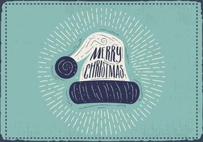 Gratis Vintage Christmas Silhouette Vector Bakgrund