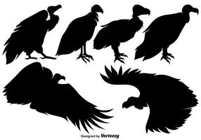 Vector Buzzard Silhouettes Set