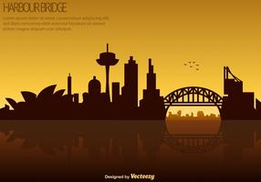 Vector Sydney Skyline - Harbour Bridge