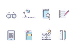 Book Reading Icons vector