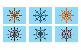fartyg hjul vektor pack