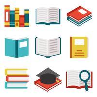 Vettore libero delle icone di libri / libro