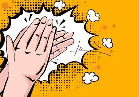 Hands Clapping Comic Style vector