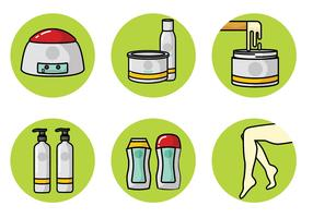 Waxing Equipment Vector Pack