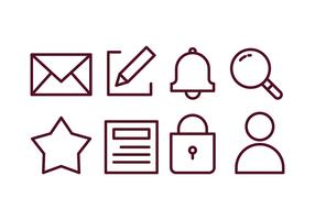 Blogger Content Creator Icon Set vector