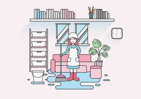 Huishoudster Caretaker Vector