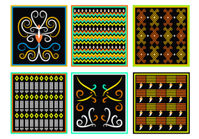 Traditional Dayak Motif Vector